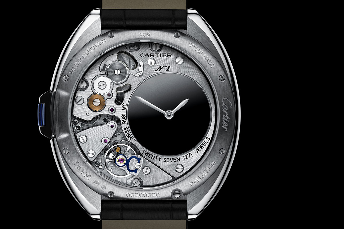 Clé de Cartier Mysterious Hour caseback - calibre 9981 MC