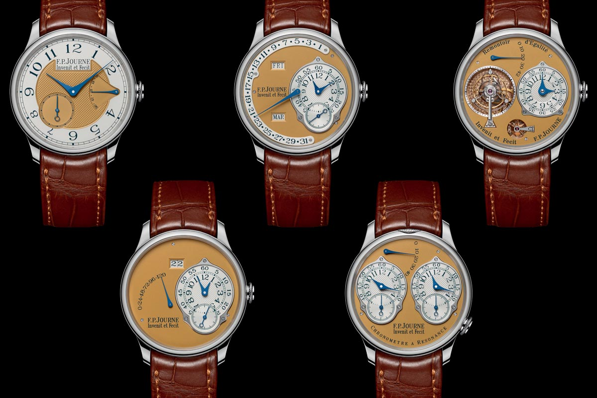 FP Journe Steel 38mm Final Edition complete set 5 watches