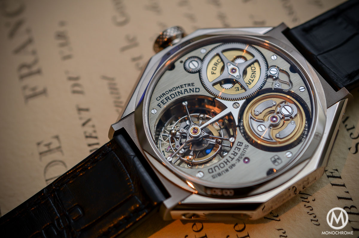 Ferdinand Berthoud Chronometre FB 1 - fusee chain close up