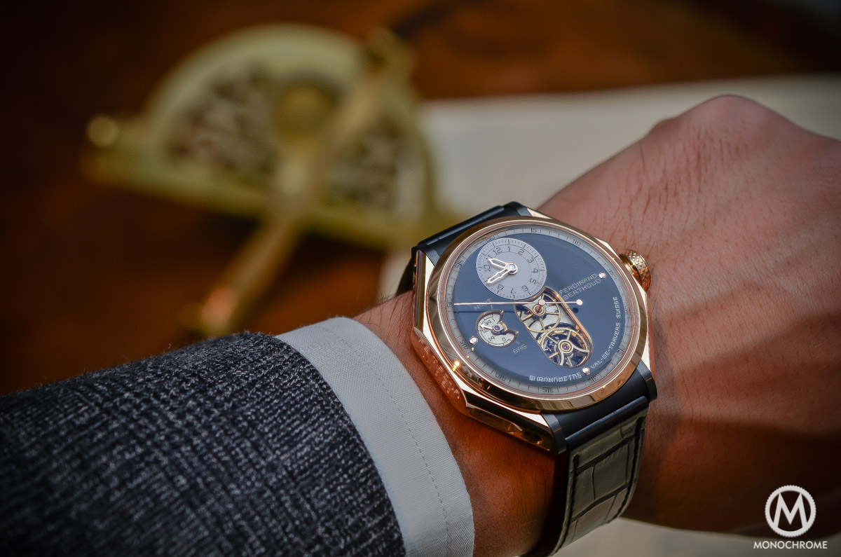 Ferdinand Berthoud Chronometre FB 1 - pink gold wristshot