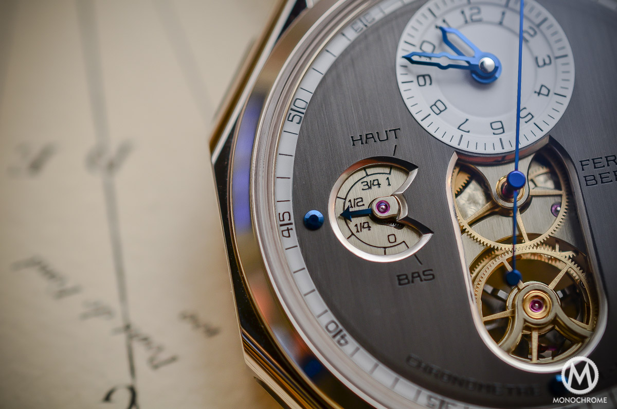 Ferdinand Berthoud Chronometre FB 1 - power reserve close up