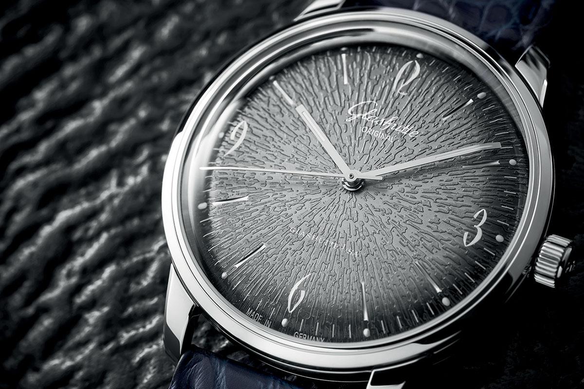 Glashutte Original Sixties grey dial detail