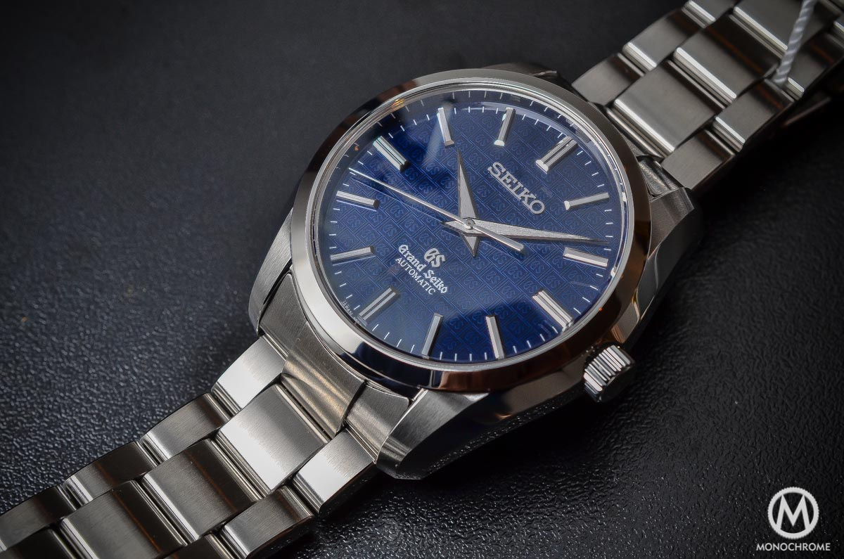 Grand Seiko SBGR097 Limited Edition Automatic 9S61 42mm Blue dial - case and bracelet