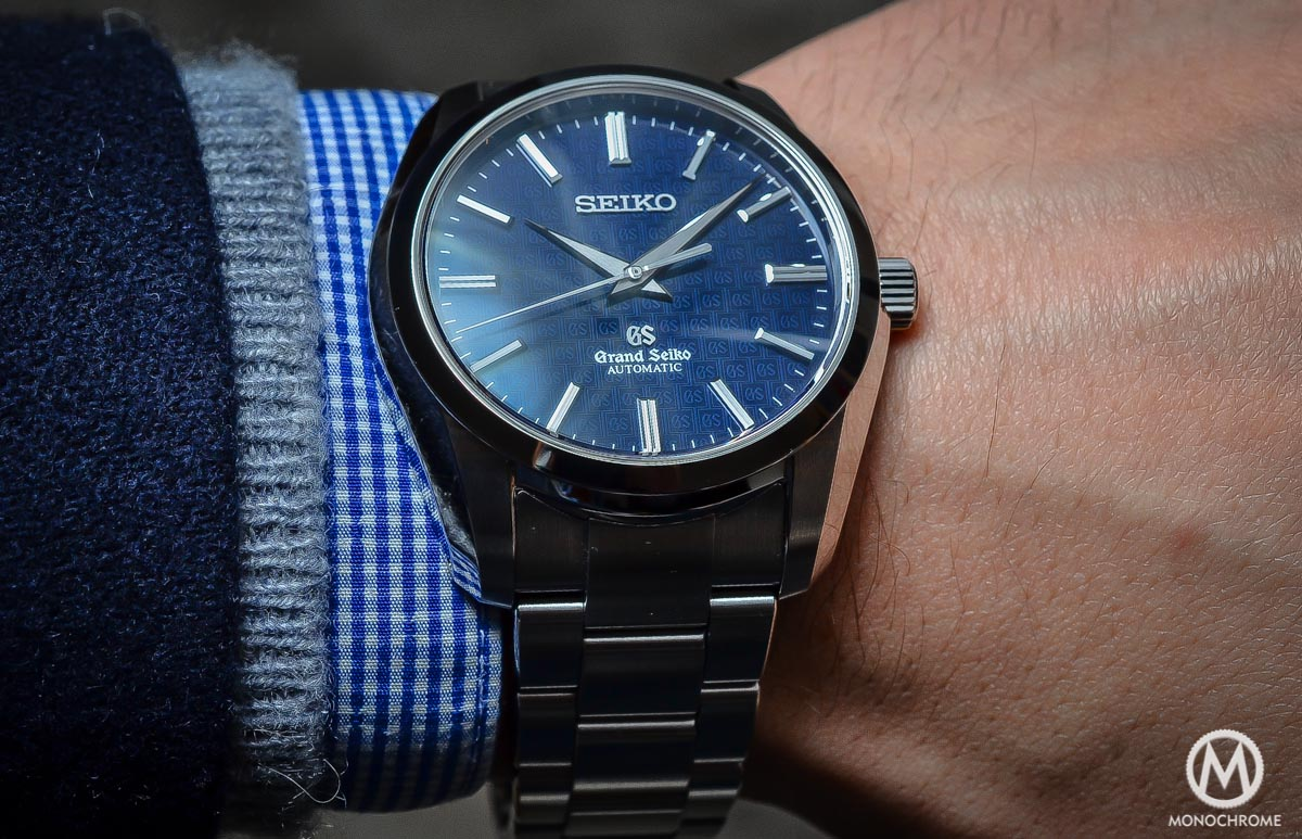 Grand Seiko SBGR097 Limited Edition Automatic 9S61 42mm Blue dial - on the wrist