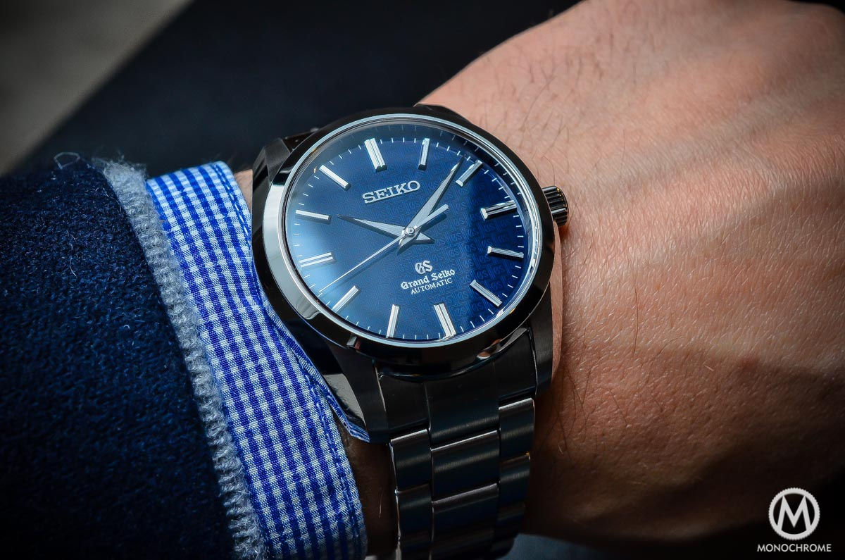 Grand Seiko SBGR097 Limited Edition Automatic 9S61 42mm Blue dial - wristshot