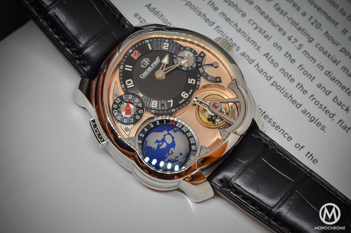 Greubel Forsey GMT Rose gold 5N movement Platinum case - case detail