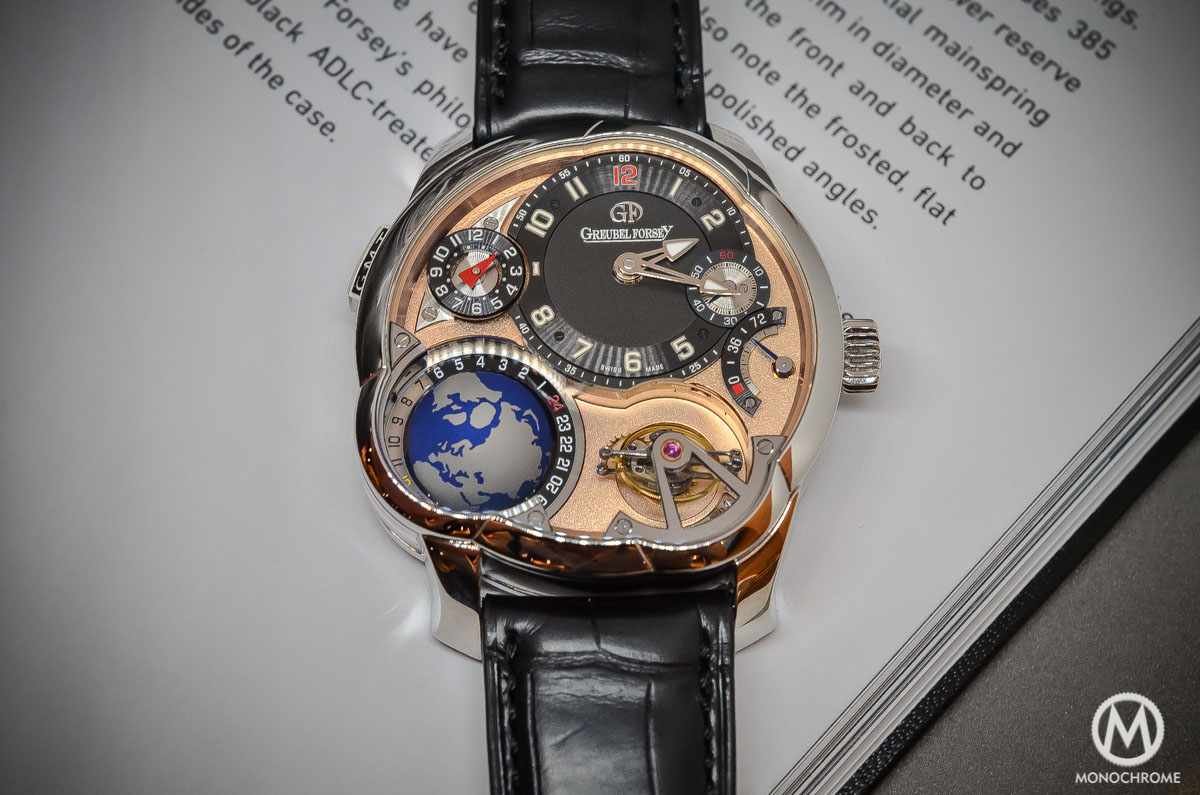 Greubel Forsey GMT Rose gold 5N movement Platinum case - cover