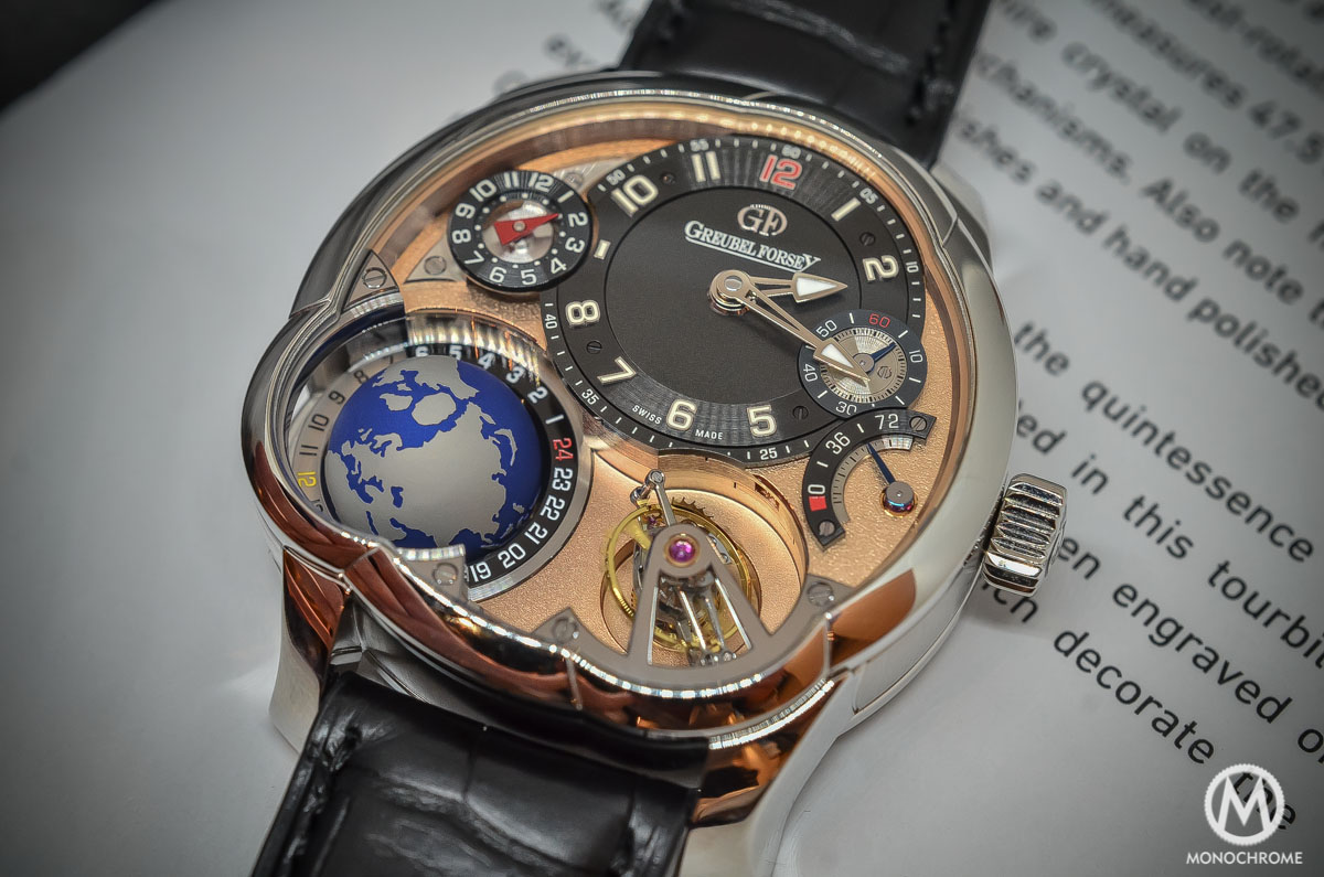 Greubel Forsey GMT Rose gold 5N movement Platinum case - dial and tourbillon