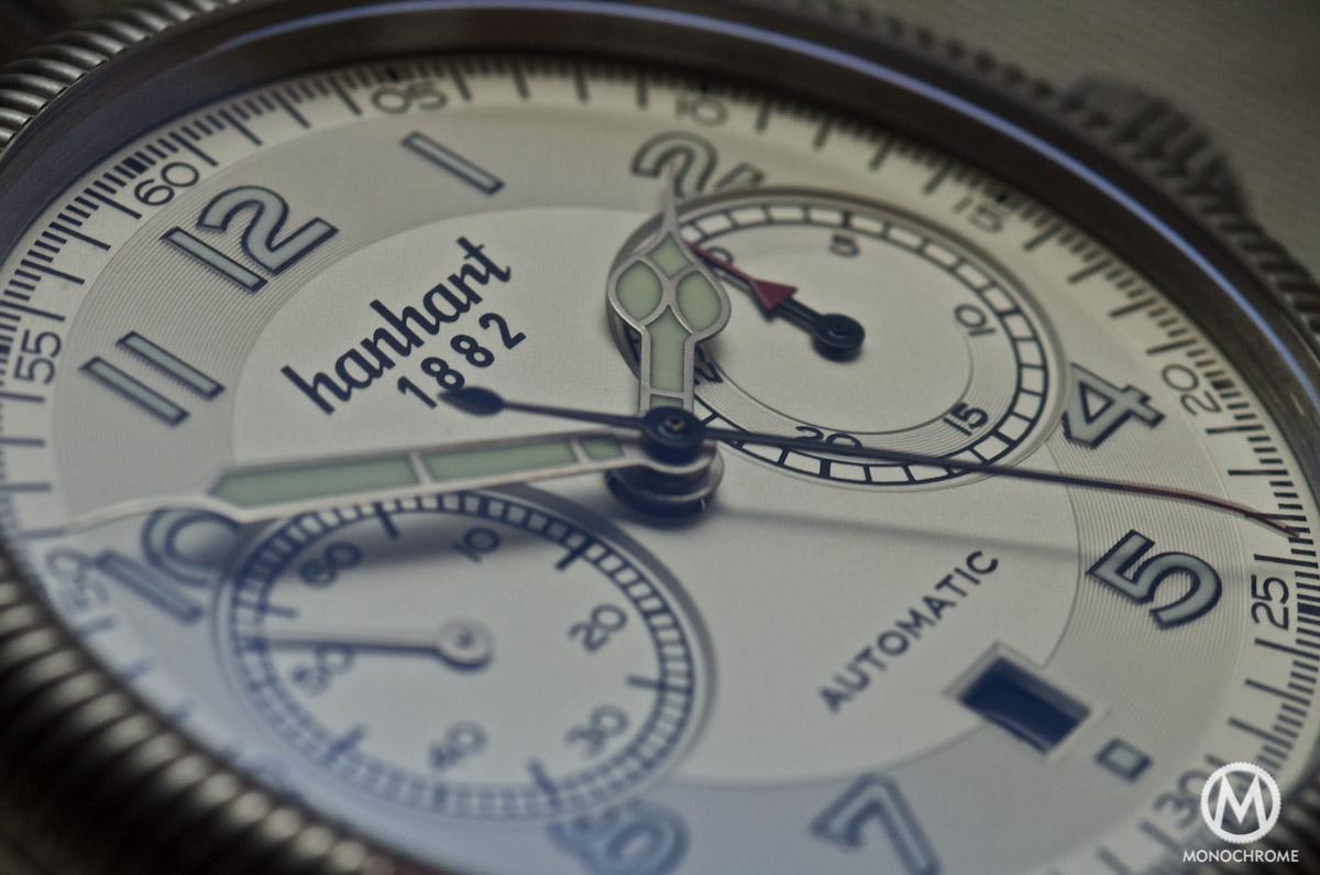 Hanhart Pioneer Monocontrol dial detail
