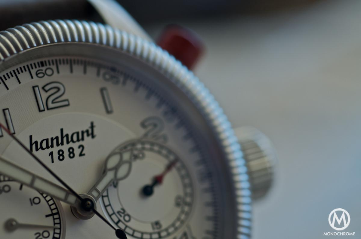 Hanhart Pioneer Monocontrol logo - dial detail