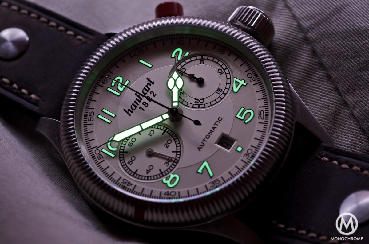 Hanhart Pioneer Monocontrol lume hands and dial
