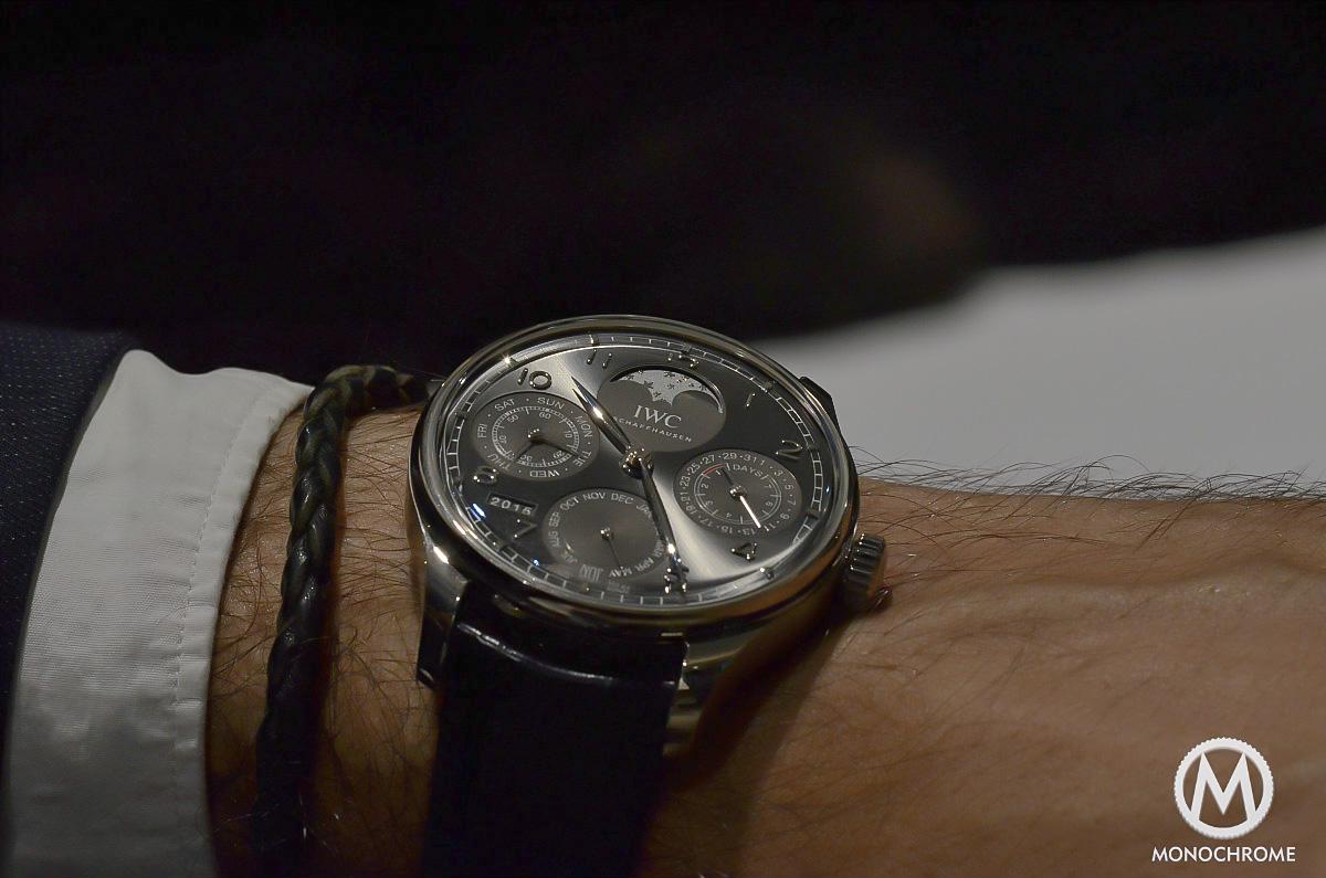 IWC Portugieser Perpetual Calendar 2015 wristshot