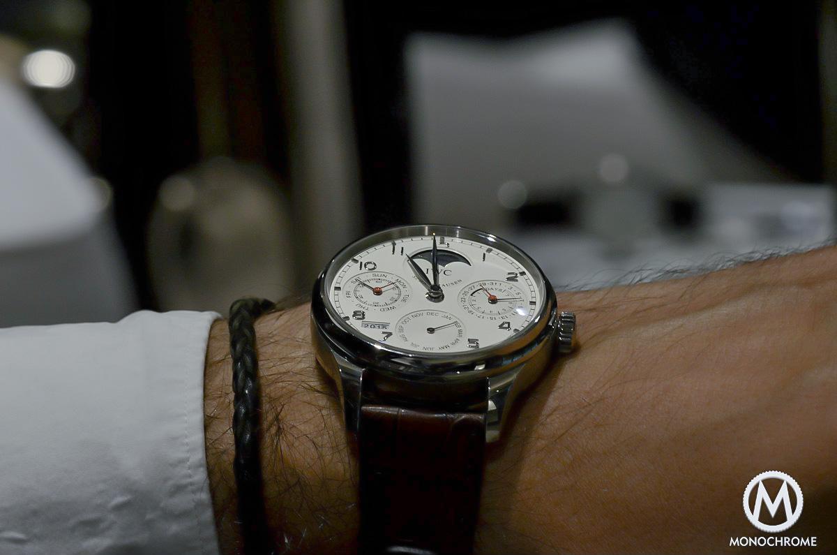 IWC Portuguese Perpetual Calendar Steel wristshot