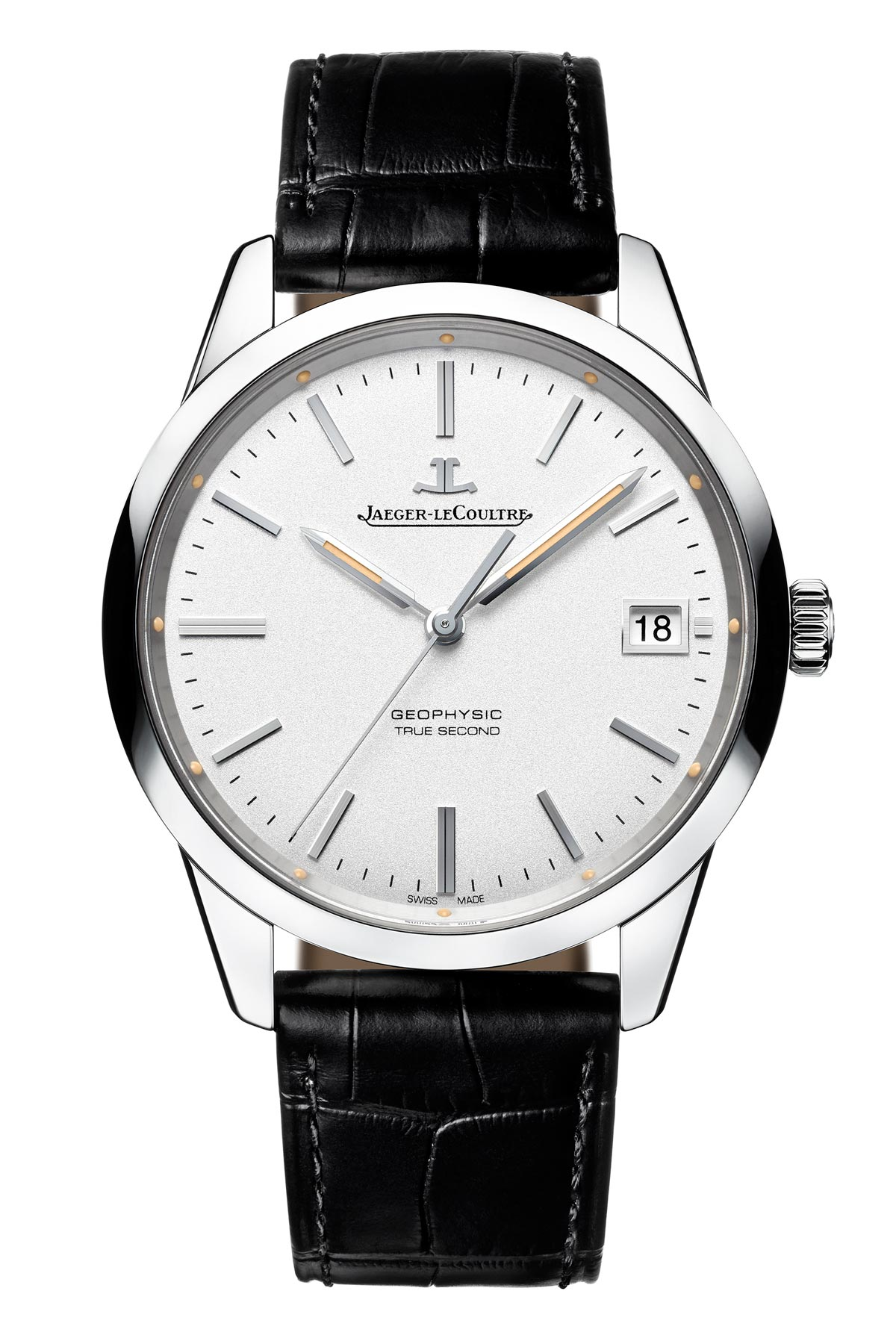Jaeger-LeCoultre Geophysic True Second stainless steel full front