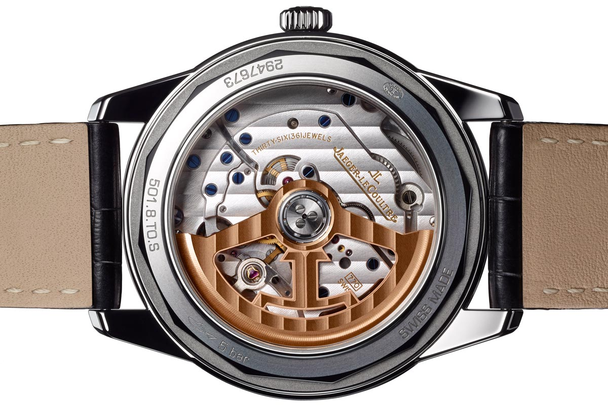 Jaeger-LeCoultre Geophysic True Second transparent caseback