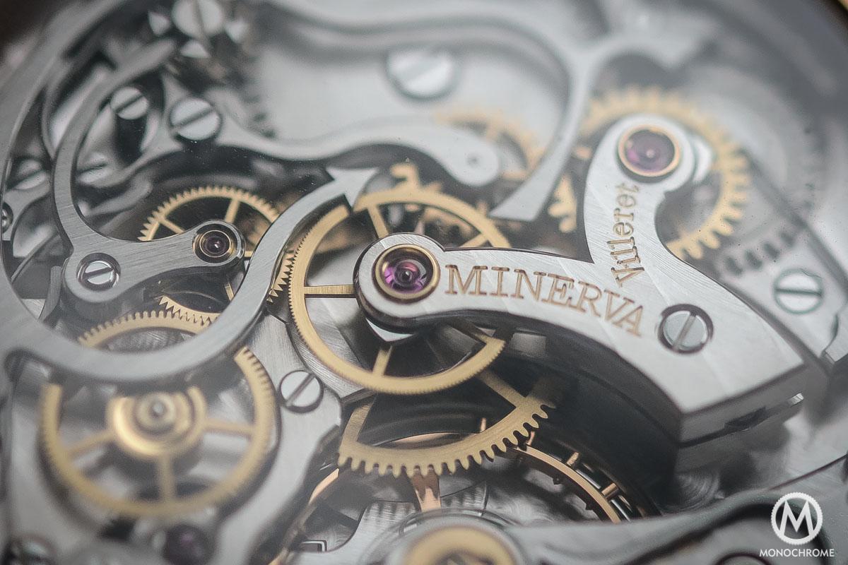 Montblanc 1858 Chronograph Tachymeter - Villeret CHronograph Monopusher ref. 112637 - calibre M16.29 devil tail