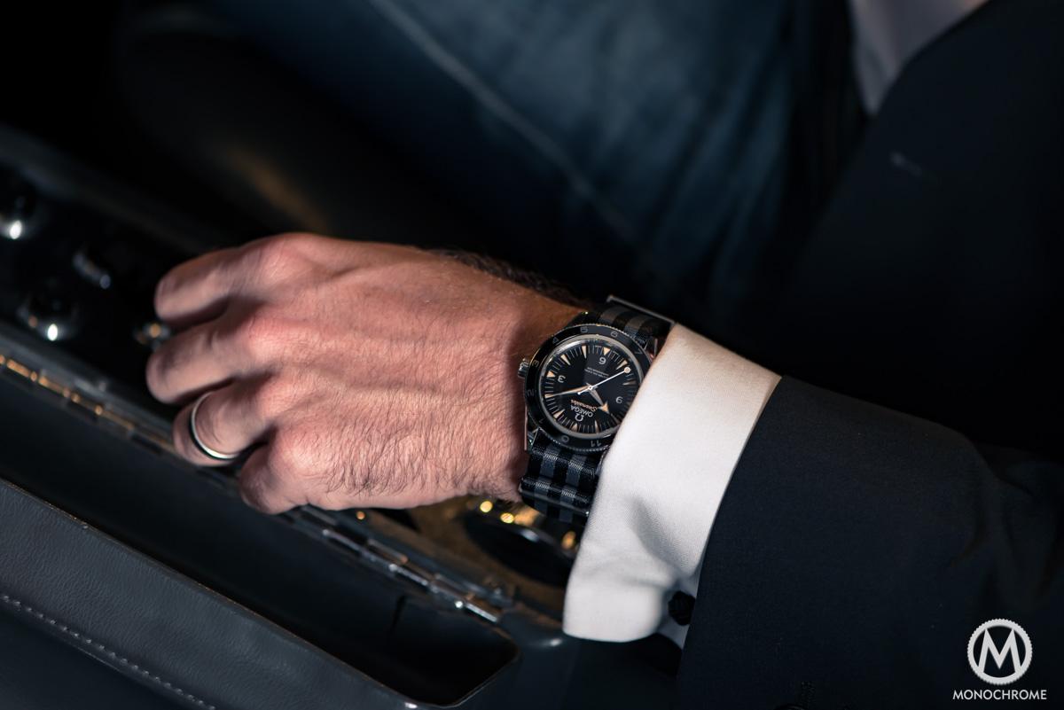 Omega Seamaster 300 SPECTRE 007 James Bond Limited Edition - wristshot