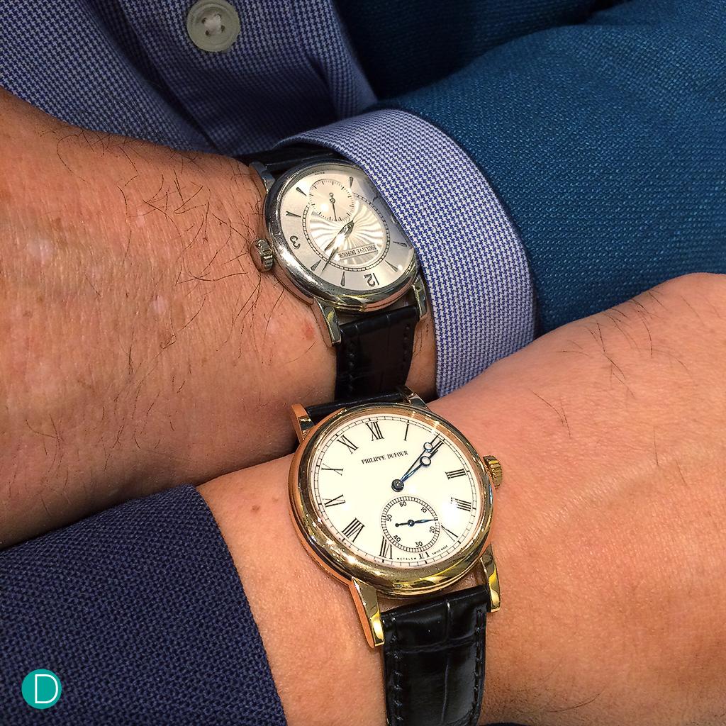 Philippe Dufour Simplicity double wristshot