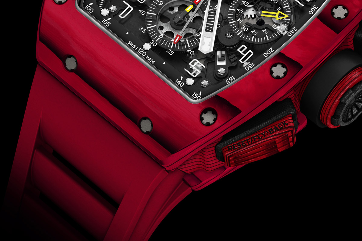 Richard Mille RM 011 Red TPT Quartz automatic flyback chronograph - Detail case