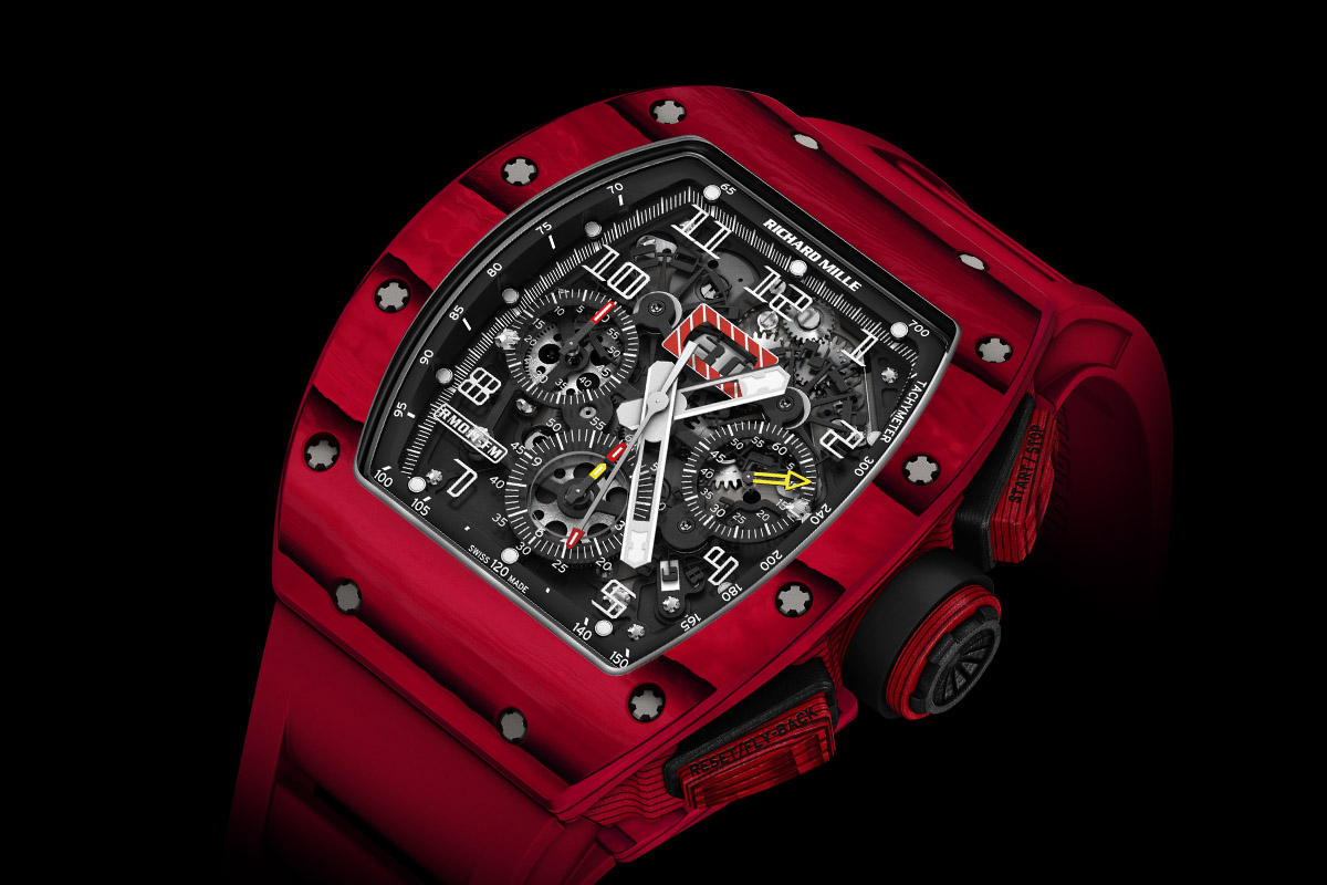 Richard Mille RM 011 Red TPT Quartz automatic flyback chronograph - case
