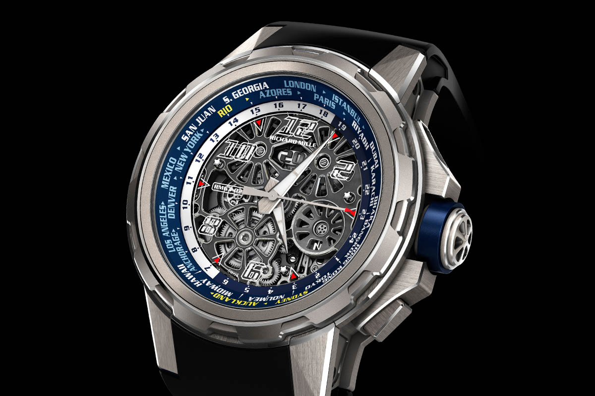 Richard Mille RM 63-02 World Timer Automatic - case and dial