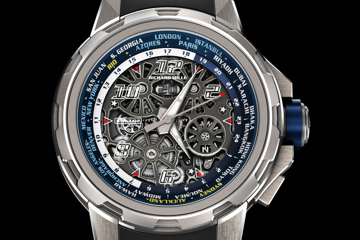 Richard Mille RM 63-02 World Timer Automatic - full dial