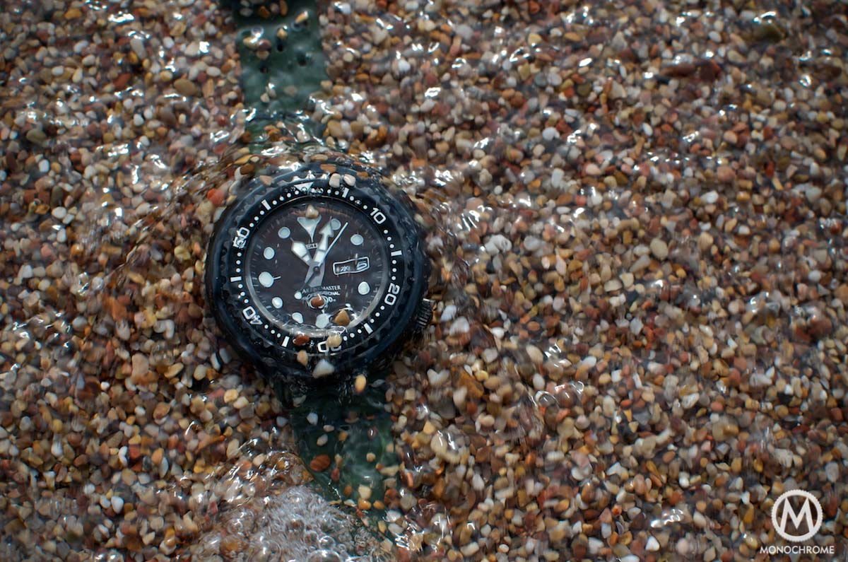 Seiko Darth Tuna SBBN013 Prospex - water test