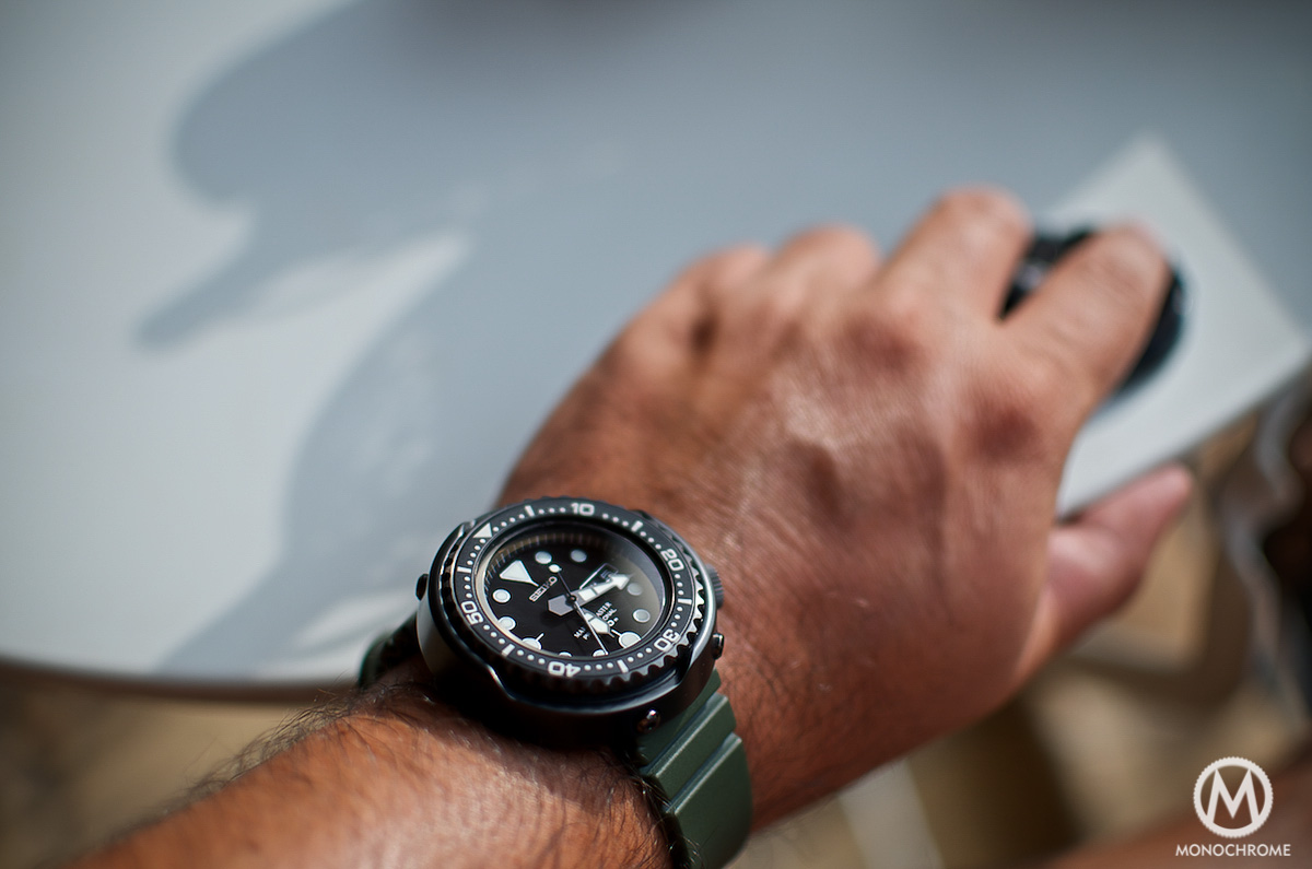Seiko Darth Tuna SBBN013 Prospex - wristshot