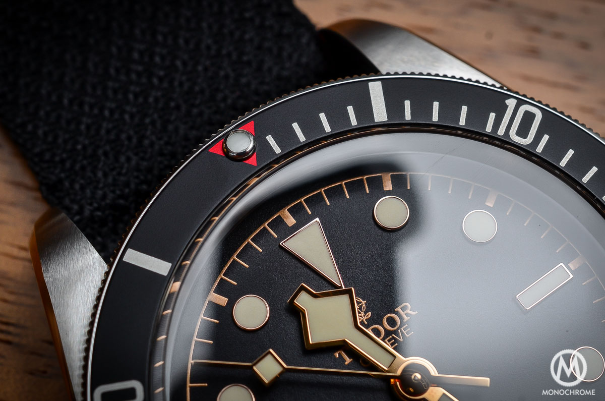 Tudor Black Bay Black Bezel 79220N - bezel and red triangle
