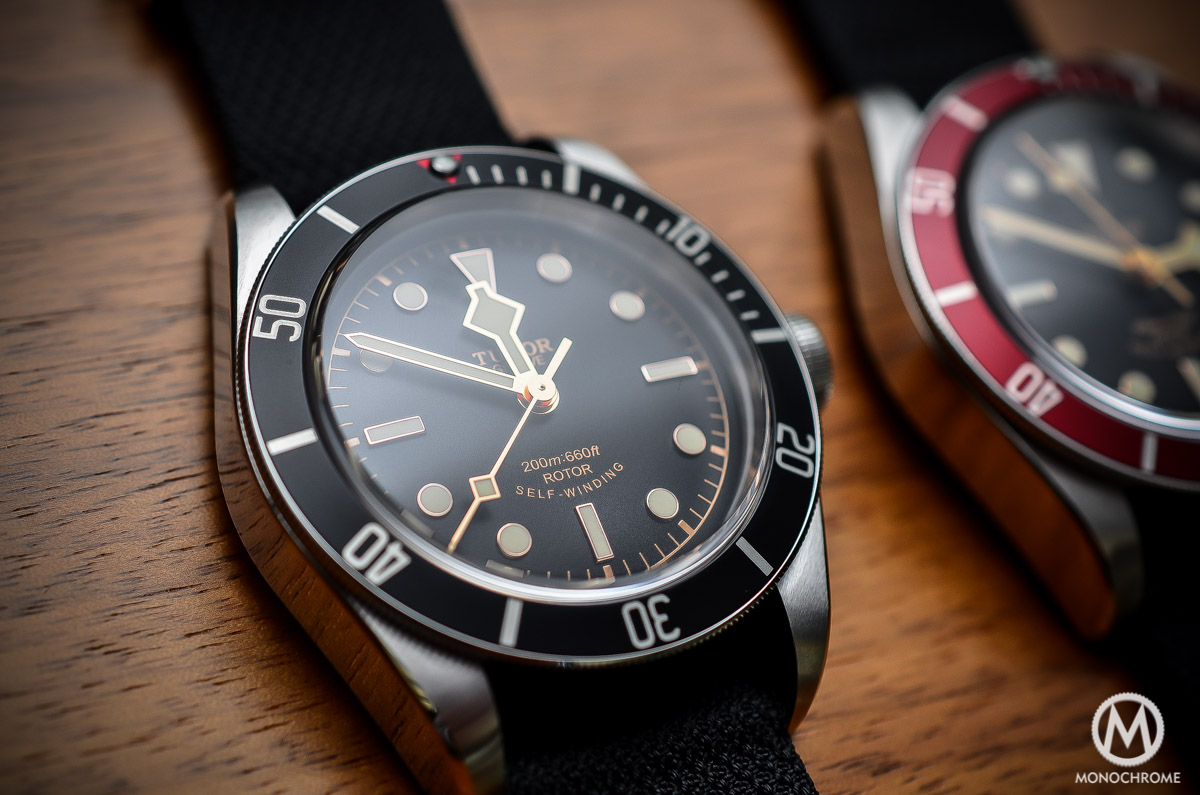 Tudor Black Bay Black Bezel 79220N - dial and hands