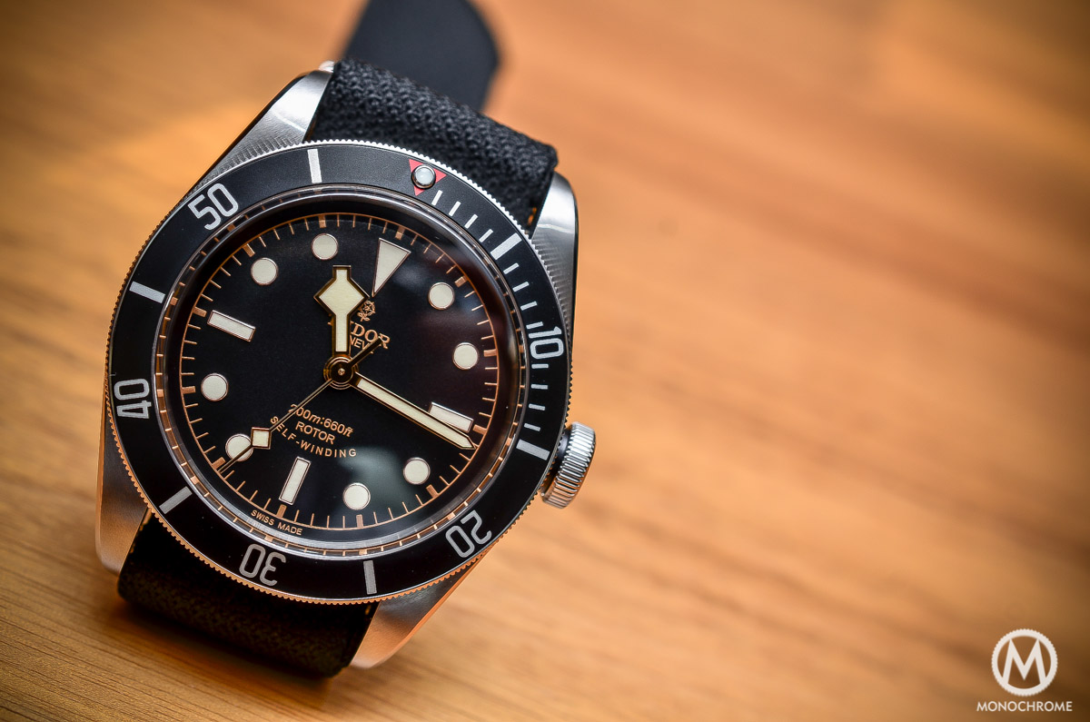 Tudor Black Bay Black Bezel 79220N - dial close up