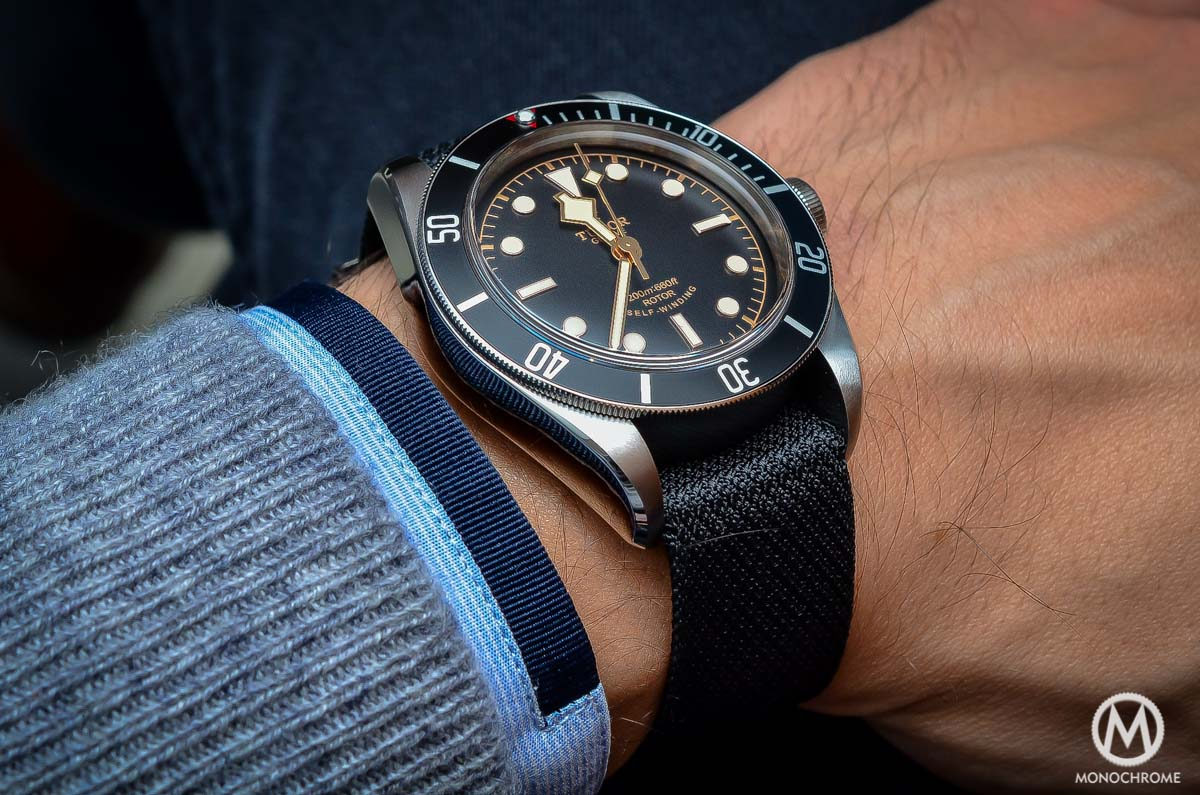 Tudor Black Bay Black Bezel 79220N - wristshot