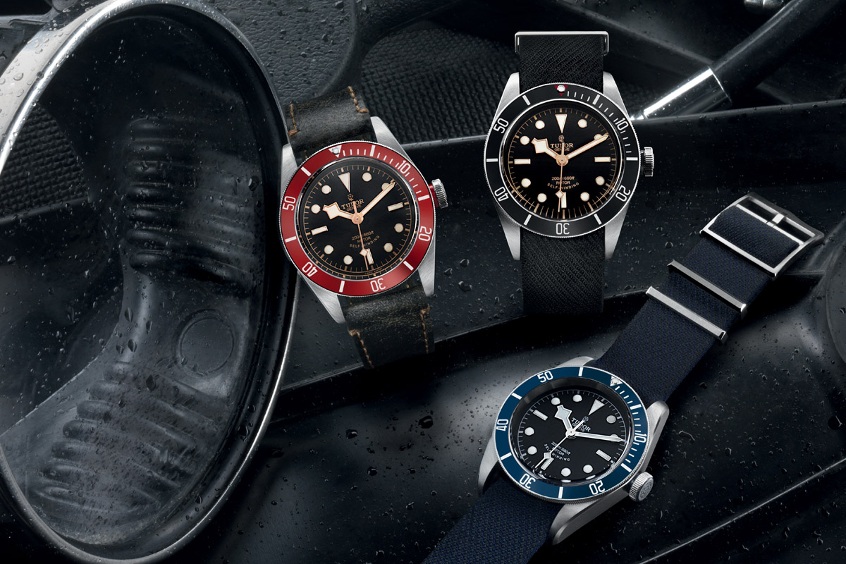 Tudor Black Bay collection - Black 79220N - Blue 79220B - Red 79220R