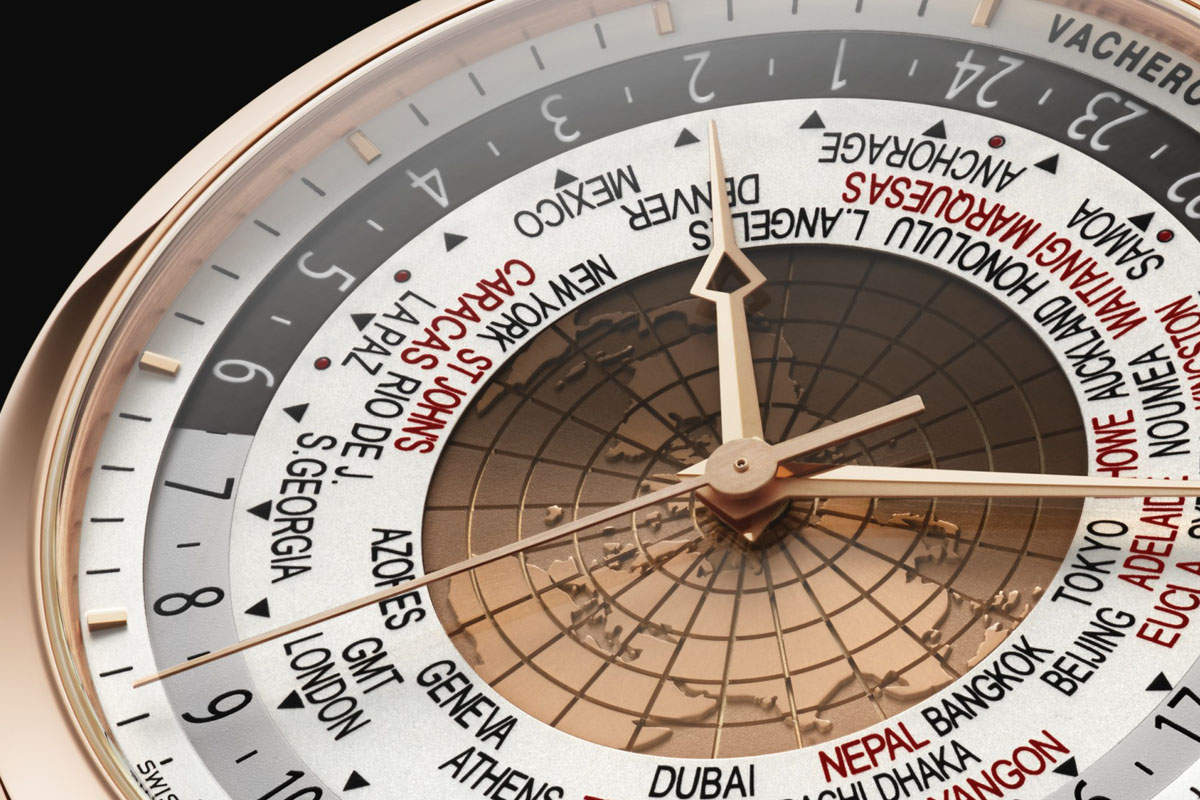 Vacheron Constantin Traditionnelle World Time 2015 Edition Pink Gold dial detail