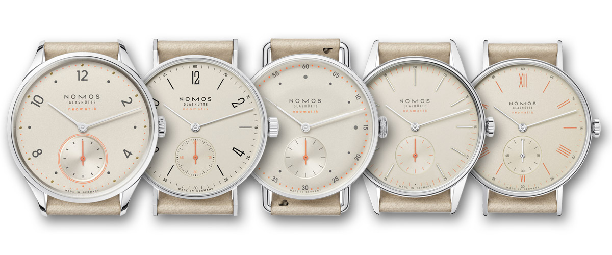 nomos Neomatik Collection 2015 - Champagne Dial bis