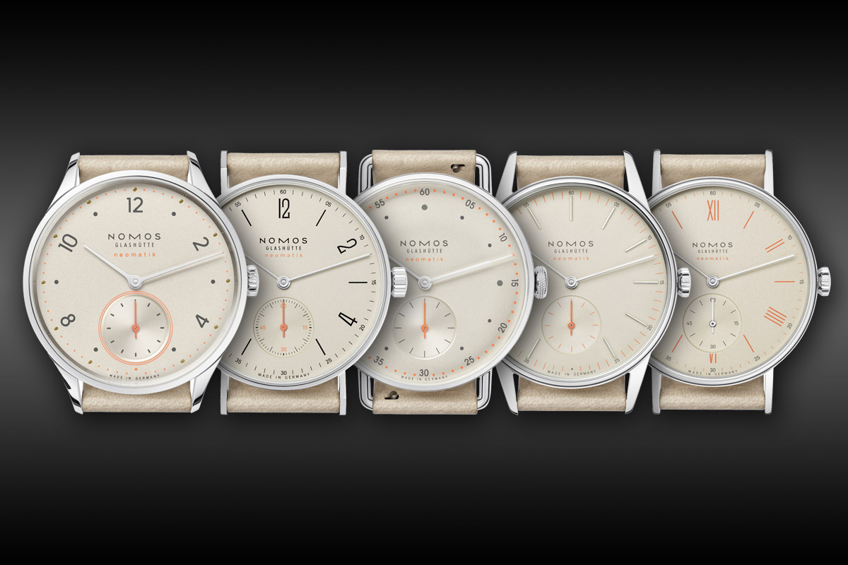 nomos Neomatik Collection 2015 - Champagne Dial