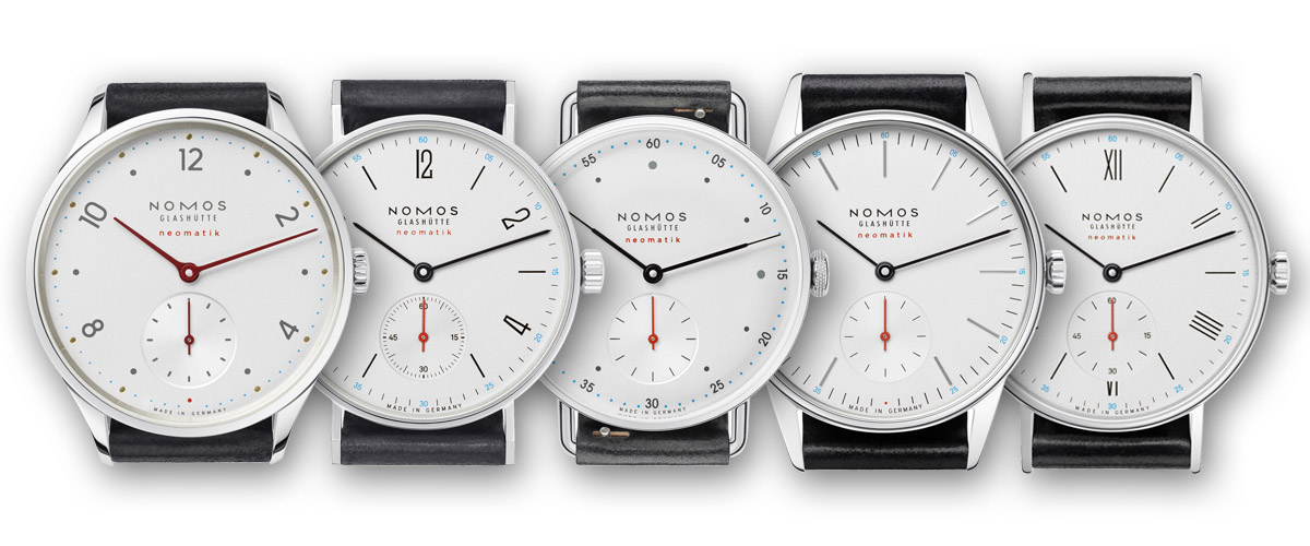 nomos Neomatik Collection 2015 - White Dial
