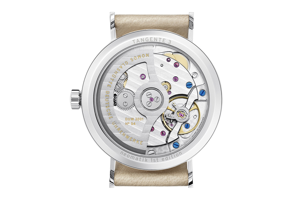 nomos tangente in-house movement DUW 3001 neomatik