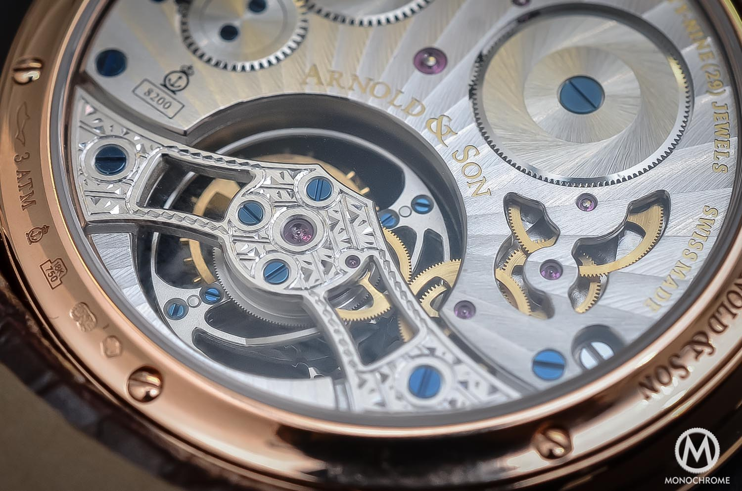 Arnold & Son UTTE – Ultra Thin Tourbillon Escapement - movement close up