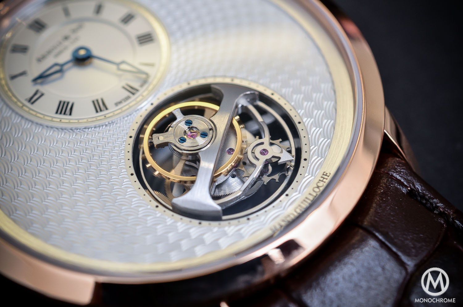 Arnold & Son UTTE – Ultra Thin Tourbillon Escapement - tourbillon cage close up