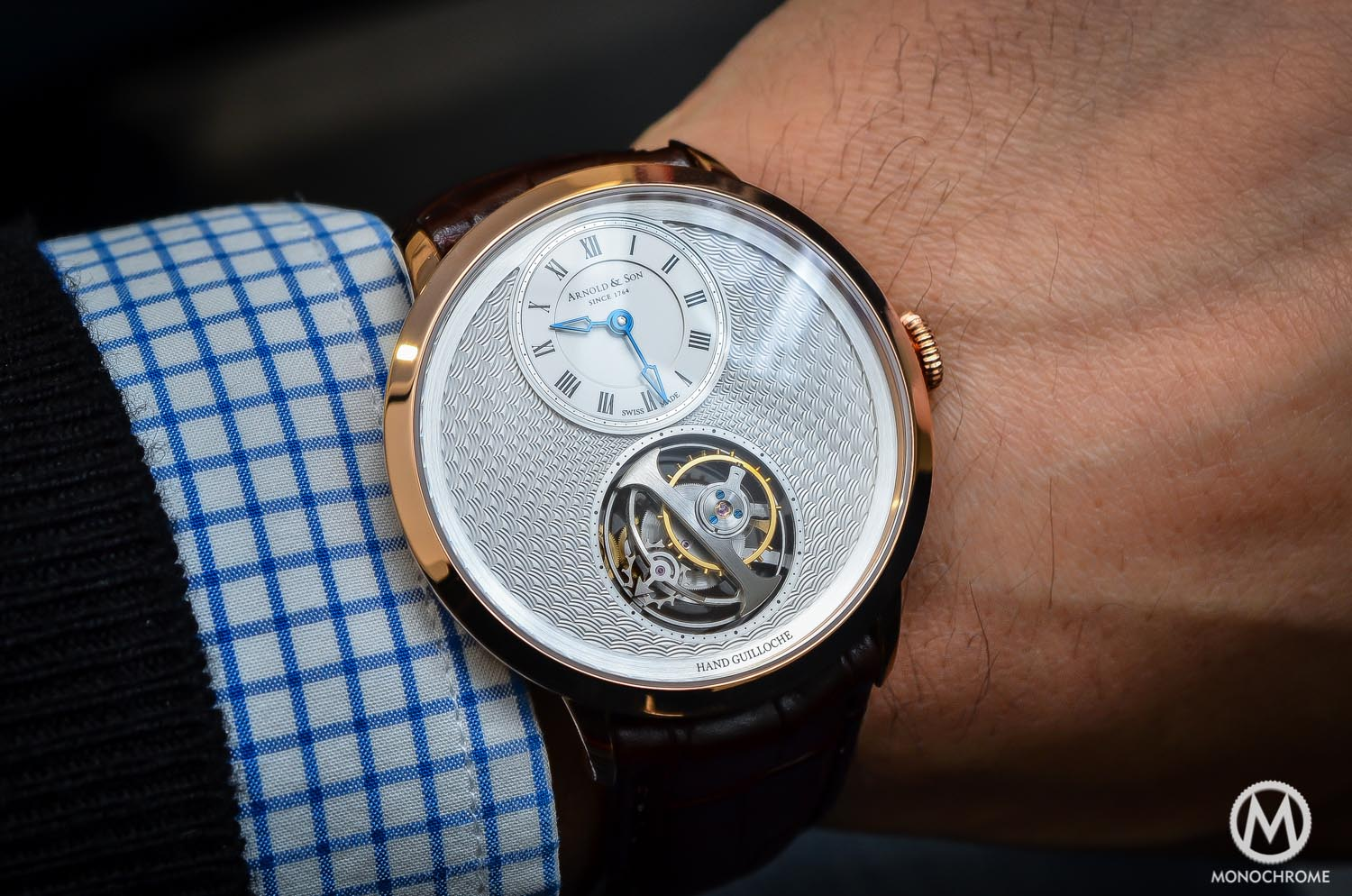 Arnold & Son UTTE – Ultra Thin Tourbillon Escapement - wristshot