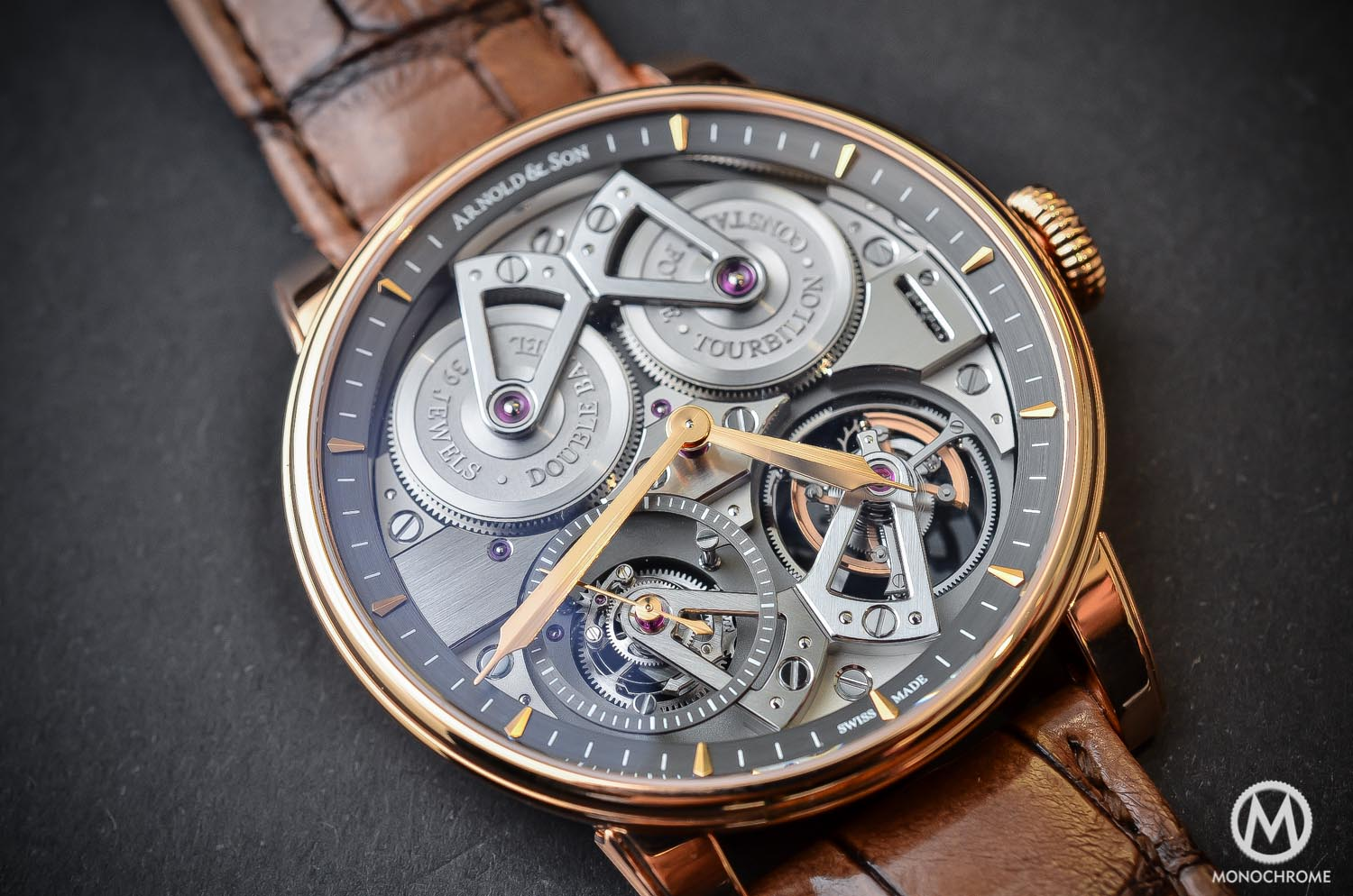 Arnold and Son Constant Force Tourbillon - hands-on review - dials and hands