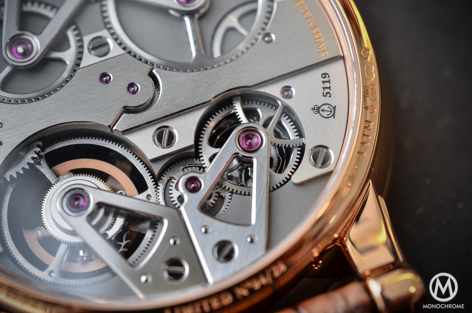Arnold and Son Constant Force Tourbillon - hands-on review - movement detail