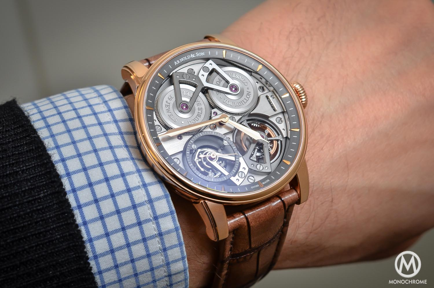 Arnold and Son Constant Force Tourbillon - hands-on review - on the wrist