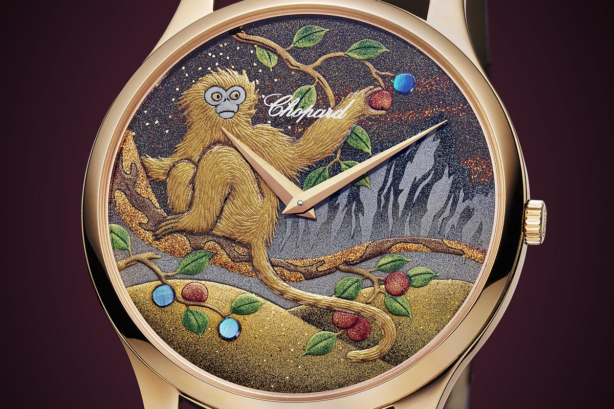 Chopard L.U.C XP Urushi - Year of the monkey - dial close up