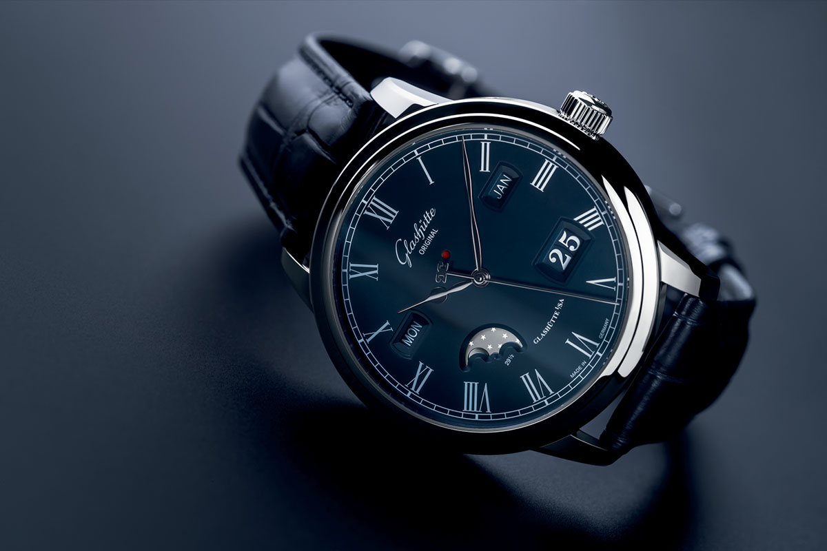 Glashutte Original Senator Perpetual Calendar Boutique Edition Blue Dial