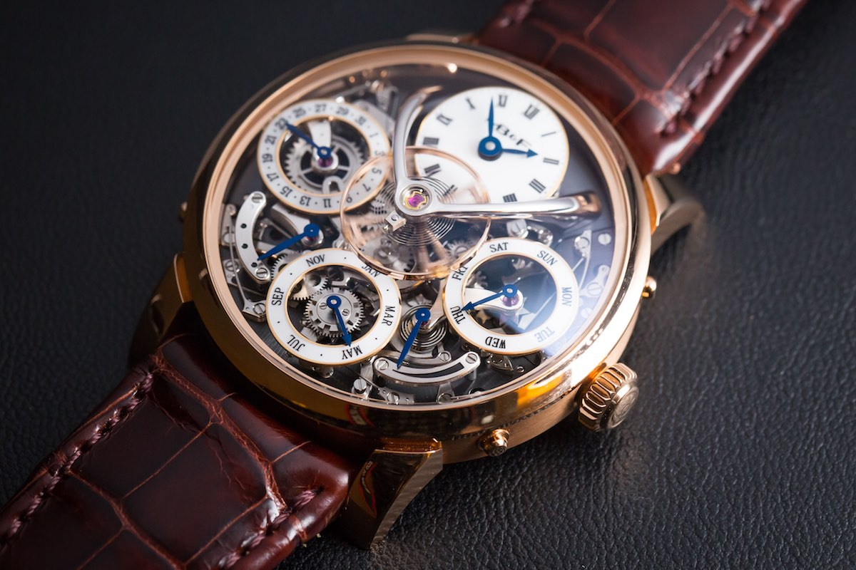 MB&F legacy Machine Perpetual - Credits to The Horophile - dial red gold