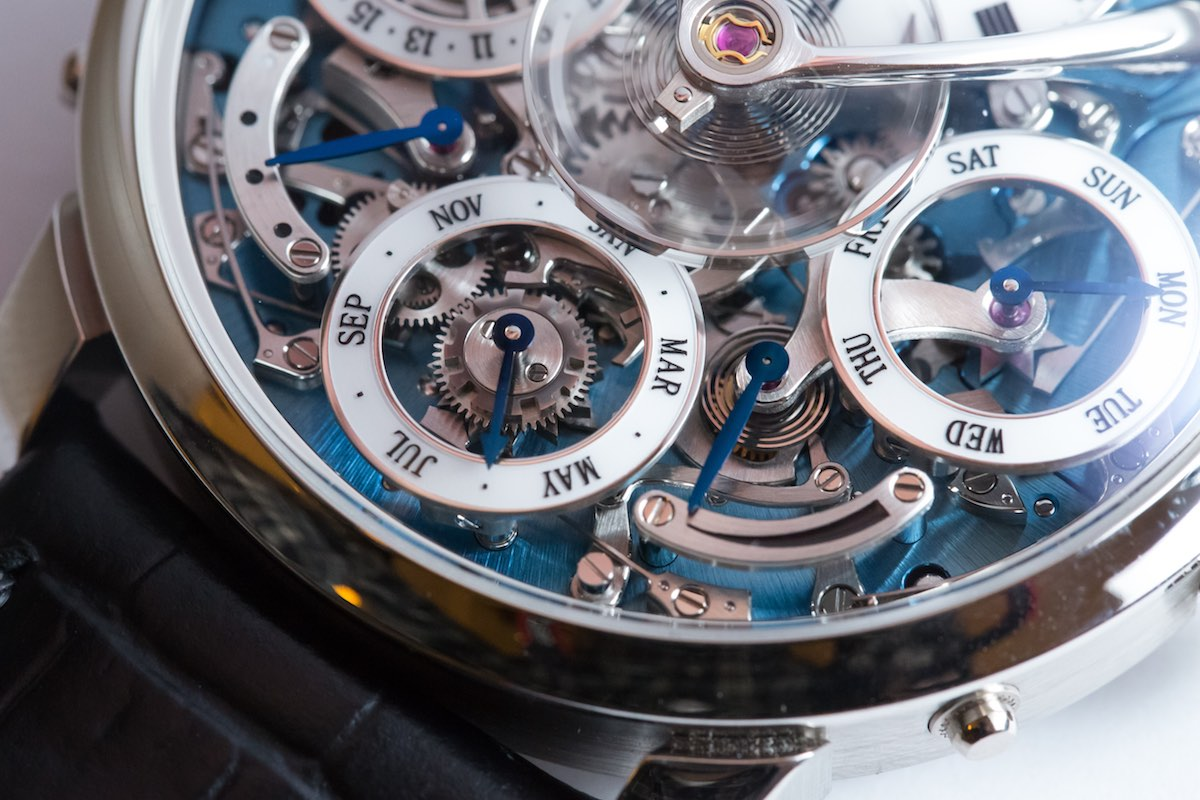 MB&F legacy Machine Perpetual - Credits to The Horophile - platinum blue dial