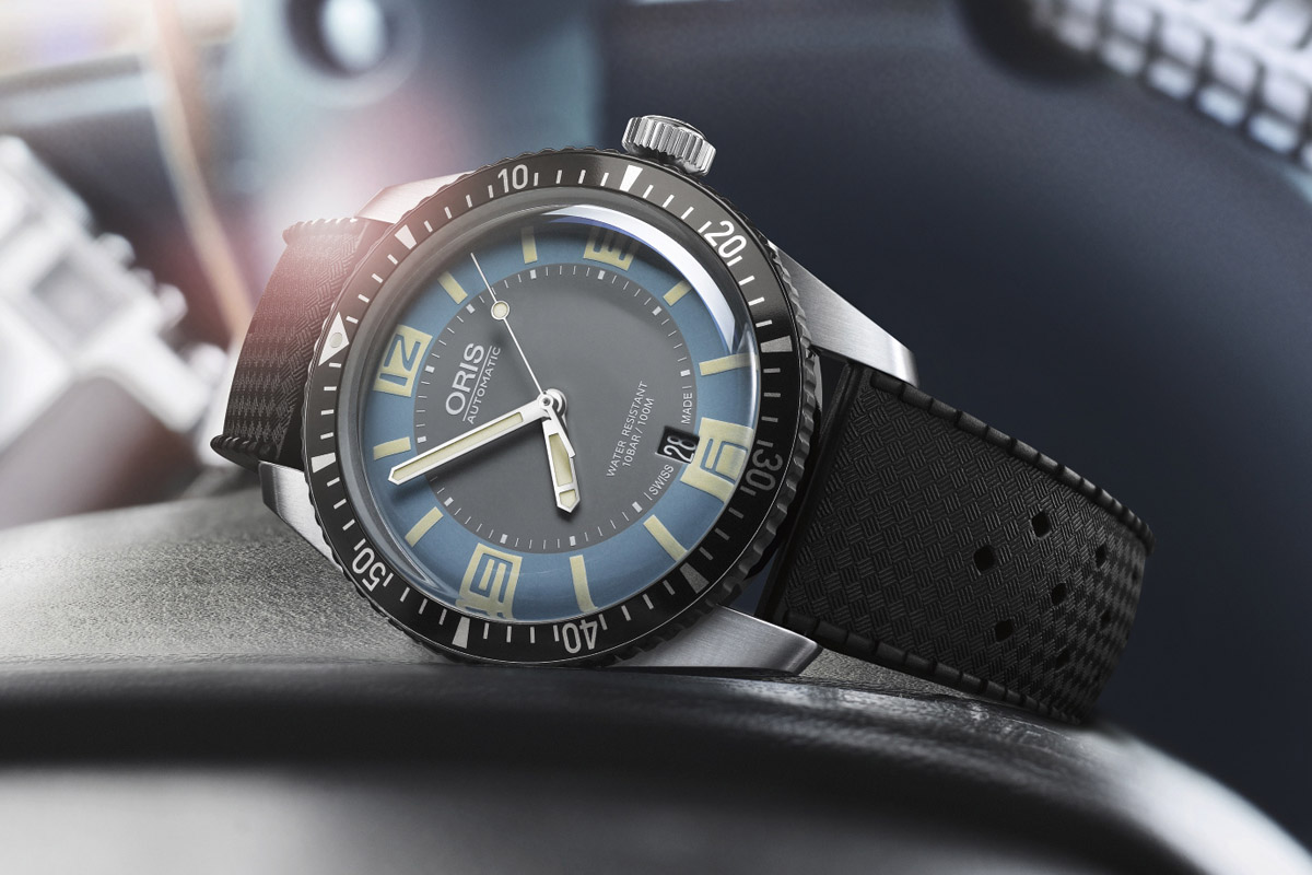 Oris Divers Sixty Five Grey and Deauville Blue