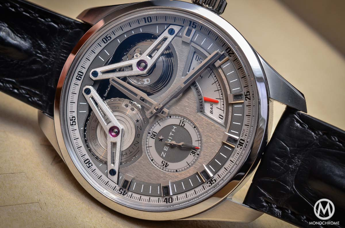 Zenith Academy Georges Favre-Jacot Titanium fusee chain - close up